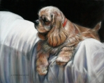 "<h5>Pastel Society of New Hampshire Award</h5><p>Margaret Williams-McGowan: ""Coach Cover""</p>"
