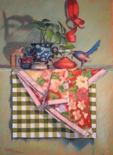 "<h5>Jack Richeson Merchandise Award II</h5><p>Leslie Levy: ""Checkered Past""</p>"