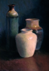 <h5>Maryland Pastel Society Award </h5><p>Pottery Trio, by Stephanie Cook</p>