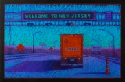 <h5>Terry Ludwig Pastels Award </h5><p>Welcome to New Jersey, by Gigi Horr Liverant</p>