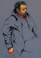 <h5>Jack Richeson Merchandise Award I </h5><p>Slouching Man, by Terence McManus</p>