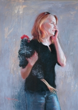 <h5>Terry Ludwig Pastels Award</h5><p>Half-Cocked, by Christine Swann</p>