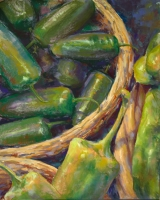 <h5>HK Holbein Inc. Portrait Pastels Award</h5><p>Peter's Peppers, by Michele Poirier Mozzone</p>