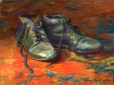 <h5>UART Sanded Pastel Paper Award</h5><p>Marie Sheehy-Walker: Sole Mates</p>