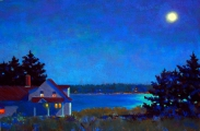 <h5>Maryland Pastel Society Award </h5><p>Suzanne Siegel: Moon Night, Deer Isle</p>