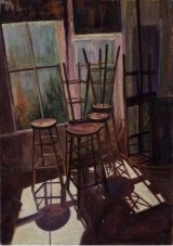 <h5>Pastel Painters Society of Cape Cod Award</h5><p>Valerie Mandra: <br /> The Studio</p>