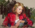 <h5>Pastel Society of America Award</h5><p>William Schneider: <br /> Anastasia</p>