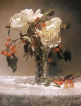 <h5>Jack Richeson Award </h5><p>Anne McGrory: Peonies and Cherries</p>