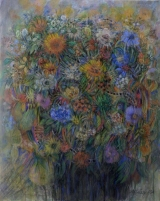 <h5>Maryland Pastel Society</h5><p>Marilyn Caissy: <br /> my garden portrait 8</p>